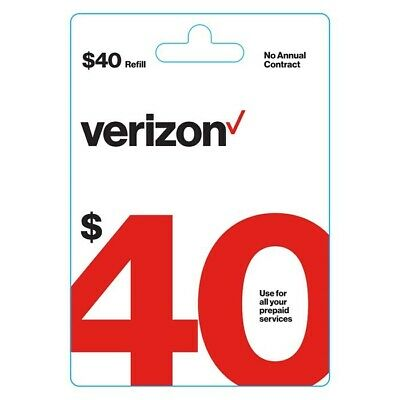 $40 Verizon Wireless Prepaid Refill Card - Fast Email Delivery