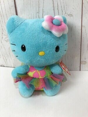 Ty Beanie Baby ~ HELLO KITTY Turquoise ~ 2014 Release ~ MINT with MINT TAGS