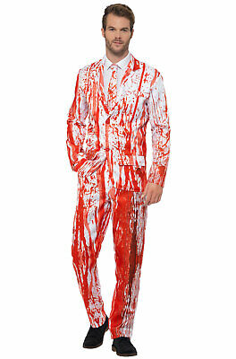 Brand New Blood Drip Adult Halloween Mens Formal Suit