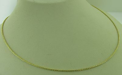10K Gold BOX Chain Necklace White or Yellow .8mm Italian Made Stamped 10KT
