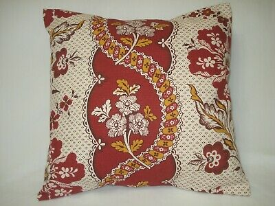 """One 14/"""" by 26/""""  Santa Maria Gem Red Tan Floral  Decorative Throw Pillow Cover"""
