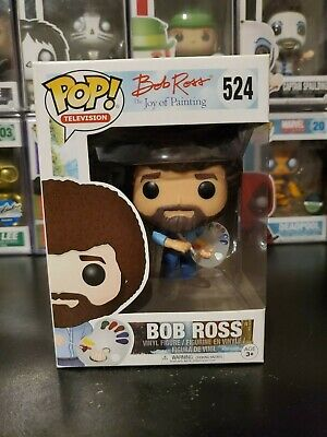 Funko Pop! Television Bob Ross The Joy of Painting #524 WITH PROTECTOR!