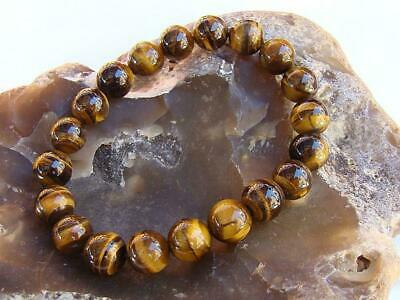 8mm Natural Stone  African Roar Natural Tiger's Eye Round Beads bracelet  7.5