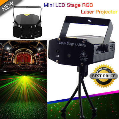R&B DJ Disco LED Light Mini Laser Projector Stage Lighting Xmas Show Party AU