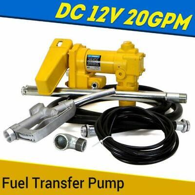 Practical 12V DC Electric Fuel Transfer Pump Diesel Kerosene Oil Commercial Auto