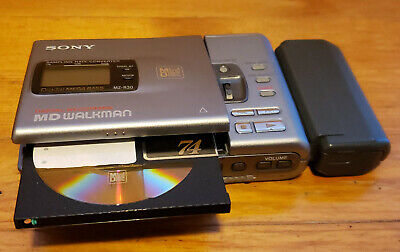 Sony MZ-R30 Mini disc player recorder with AA battery pack-MD Walkman