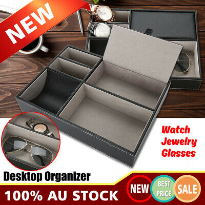 Watch Jewelry Sunglasses Storage Holder Case Box Glasses Tidy Desktop Organizer