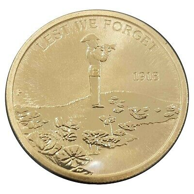 Australia 2018 War Memorials Lest We Forget Centenary Service $1 UNC Coin Carded