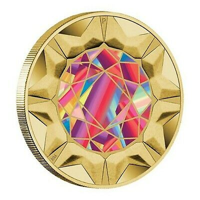 2017 Rare Beauties Extraordinary Gemstones Tuvalu $1 Dollar Coin UNC Carded