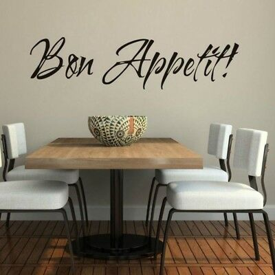 Bon Appetit Kitchen Cafe Home Wall Art Decal Quote Decor