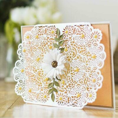 Round Lace Flower Metal Cutting Dies Scrapbooking Paper Card Embossing DIY Craft