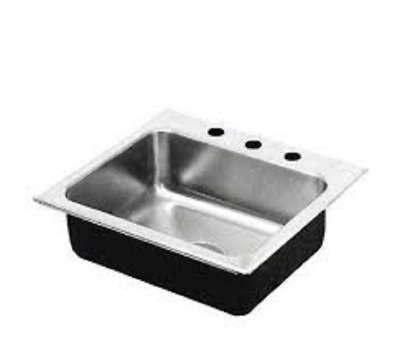 Just SL-ADA-2017-A-GR-8 Single Bowl Drop In Sink, 18 Gauge Stainless Steel, ada