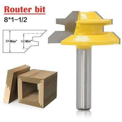 45 Degrees Woodworking Router Bit 8*1-1/2
