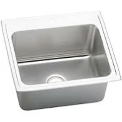 Elkay DLR2522104 Lustertone Classic Stainless Steel 25x22x10-3/8 Drop-In Sink