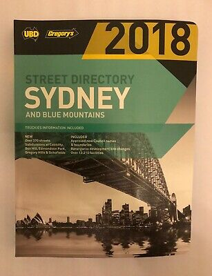 2018 UBD Gregorys Street Directory Sydney and Blue Mountains