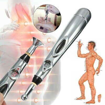 Electronic Energy Massage Pen Heal Meridian Laser Acupuncture Magnet Therapy UK