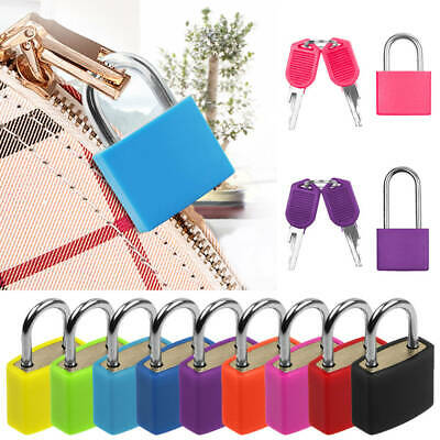 Mini Small Colored Coated Padlock Home Door Travel Luggage Bag Suitcase Lock Set