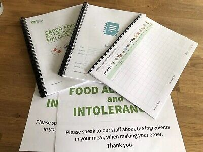 SFBB Safer Food Better Business, Diary & Allergen Sign Pack Bundle Catering