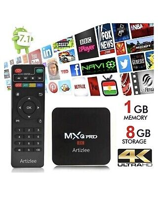Tv Box - Arztilee Decodeur Multimedia Boitier 4K 3D Mxq Pro Android 7.1