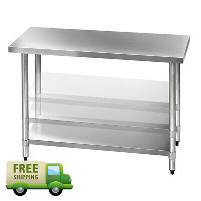 430 Stainless Steel Home Kitchen Bench Commercial Food Prep Table Food Grade New