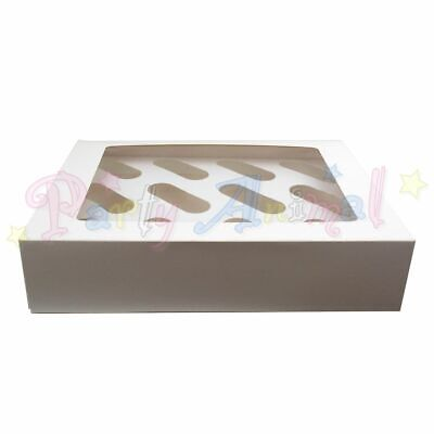 White Cupcake Muffin Storage and Carry Boxes - Inserts Included