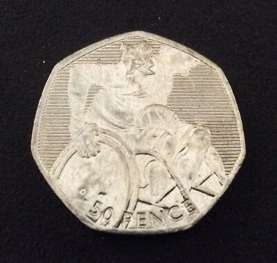 50p Coin 2011 London Olympics Wheelchair Rugby FREEPOST