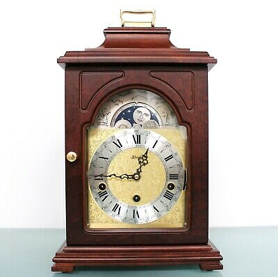 HERMLE Vintage German Mantel CLOCK TRIPLE CHIME! MOONPHASE Westminster SERVICED!