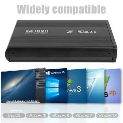 "3.5"" USB 3.0 to SATA Portable External SSD Hard Drive Disk Dock Enclosure Case H"