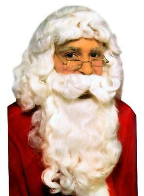 Deluxe Santa Claus Christmas Wig & Beard Adult Costume Set