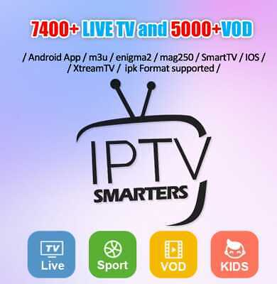 12 MONTHS IPTV SUBSCRIPTION With + 8000Ch USA UK Arabic