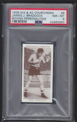 Churchman - Boxing Personalities 1938 - James J Braddock - PSA 8 NM-MT