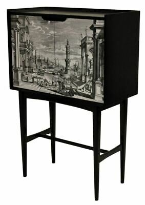 stunning vintage 1950s 60s drinks cabinet in the manner of Fornasetti italian