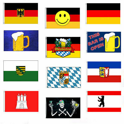 The Bar is Open 5ft x 3ft Flag Beer Festival Pub Bavaria Oktoberfest Party BBQ