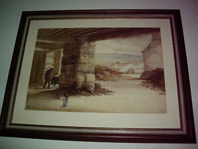 old original watercolour painting monogrammed E.H