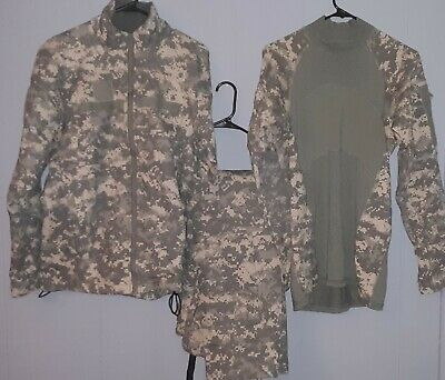 US Army ACU Massif Military Army Combat Shirt Pants and Jacket Set..size X Small