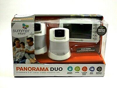 """Used- Summer Infant Panorama Duo Video Baby Monitor with 5"""" Screen & 2 monitors"""