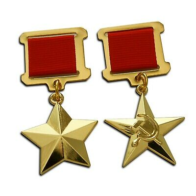 Hero of the Soviet Union + Hero of the Socialist Labour Highest Soviet Medals