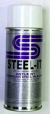 4.5oz STEEL-IT Stainless Steel Pigmented Aerosol Paint Spray Can Grey (STEEL IT)