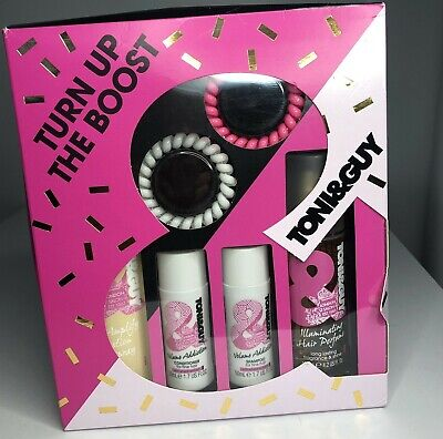 Toni & Guy Turn Up The Boost Shampoo Conditioner Hairspray Hair Perfume Gift Set