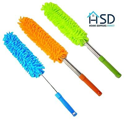 Microfiber Noodle Duster Extending Pole Home Dusting Cleaner Handheld Telescopic