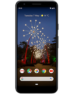 Sim Free Google Pixel 3A Factory Unlocked 64Gb 4Gb Ram Just Black
