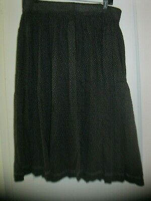 ANTIQUE BLACK & WHITE CALICO LADIES prairie SKIRT primitive pegrack