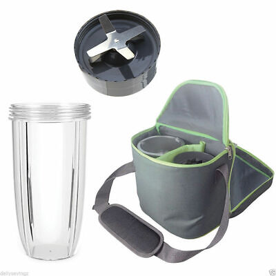 NutriBullet Extractor Blade 600W 900W + 32oz Colossal Cup + Insulated Travel Bag