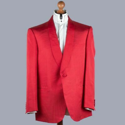 NEW $7500 BRIONI TUXEDO 100% SILK RED Jacket 45us / 55it handmade in ITALY