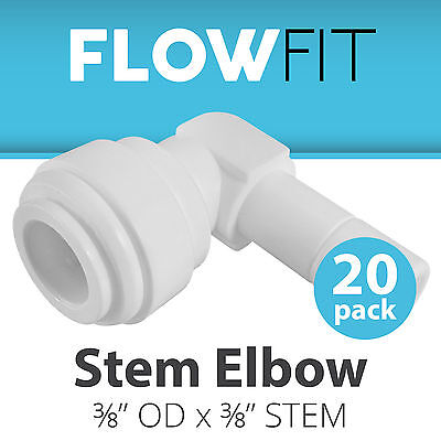 "Express Water 20-Pack Stem Elbow 3/8"" Quick Connect QC RO System Parts Fittings"