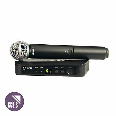 Shure Wireless Microphone System BLX24S58 with SM58 Handheld Mic. Transmitter