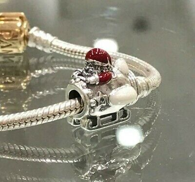 NEW Genuine Pandora Santa In Space Christmas Charm 797511ENMX Gifts Red Star ALE