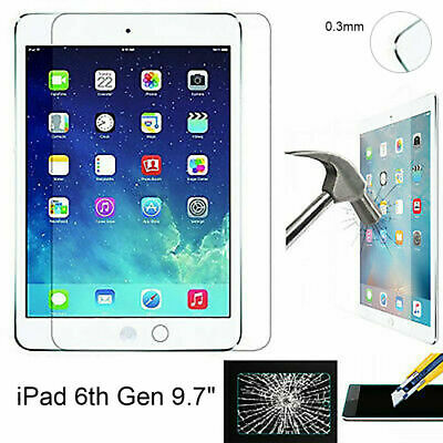 """9.7"""" Tempered Glass Screen Protector for iPad 6th Gen 2018 A1893 A1954 New AU"""