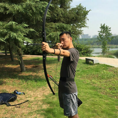 40lbs Archery Straight Recurve Bow Takedown Adult Beginner Practice Hunting
