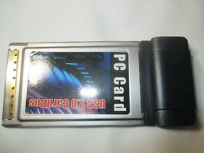 PCMCIA USB2.0 Cardbus Card 2 Port  for laptop notebook computer M004006828